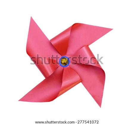 One pinwheels on white  - stock photo