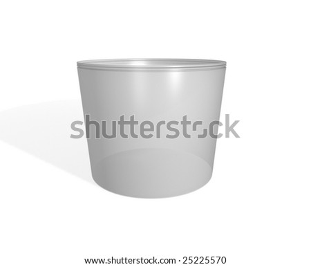 One plastic bucket on a white background