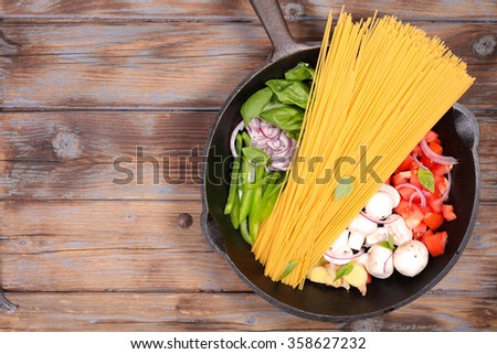 one pot pasta - stock photo