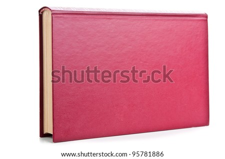 one red book isolated on a white background
