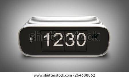 one retro digital clock. High resolution 3D  - stock photo