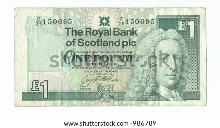 one scots pounds - stock photo