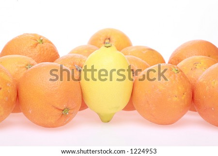 One stands out of the crowd - stock photo