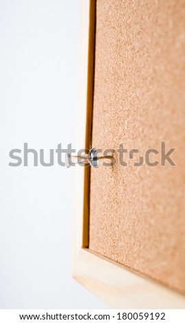 one sticky note with a pin  - stock photo