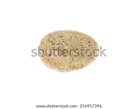 one stone isolated on a white background - stock photo