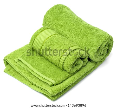 One towel on a white background