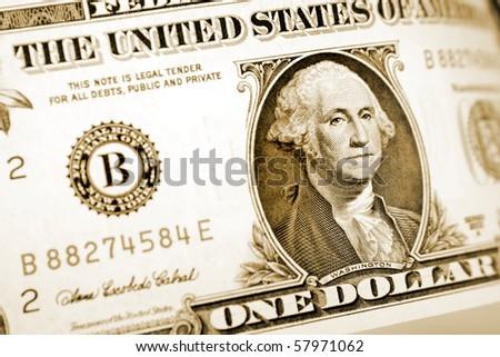 One U.S. dollar banknote - stock photo