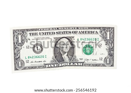 One US Dollar Banknote