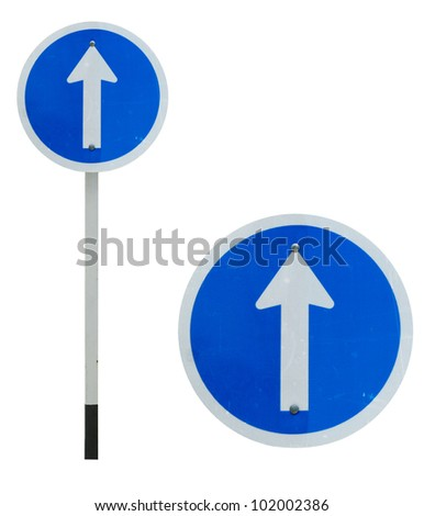 One way traffic sign - stock photo