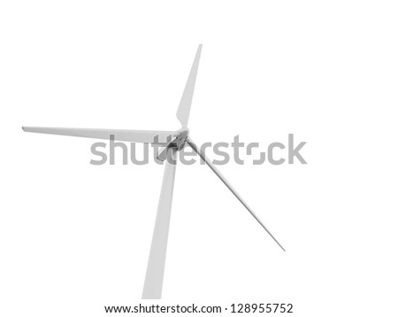 One windmill on white background