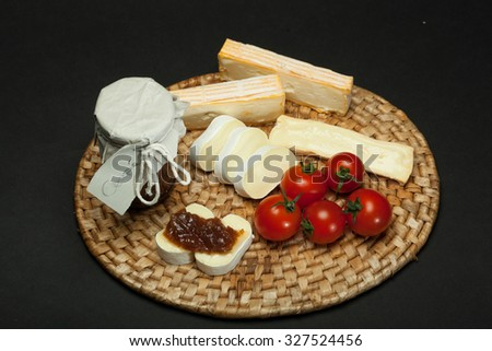Onion jam with cheese - stock photo