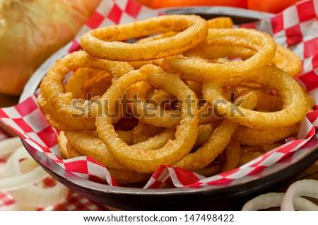 Onion Rings - stock photo