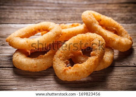 Onion rings tempura - stock photo