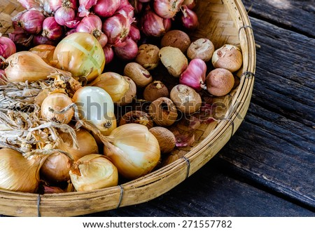 Onions and shallots - stock photo