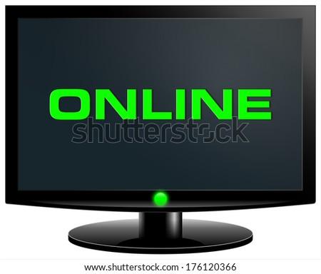 online - stock photo