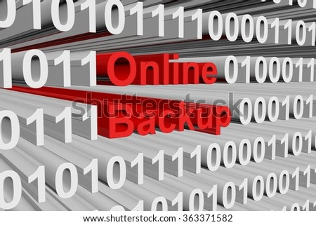 online backup is presented in the form of binary code