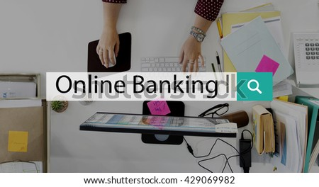 Online Banking Computer Internet Payment Web Concept - stock photo
