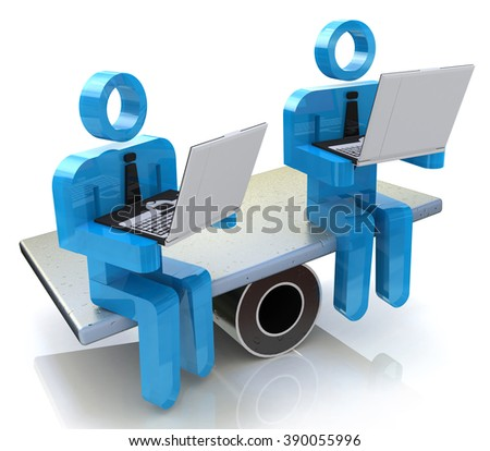 Online business competition in the design of information related to competition - stock photo