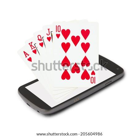 Online casino - stock photo