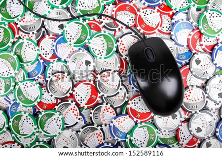 online casino poker concept - stock photo