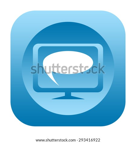 online chat icon - stock photo