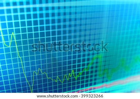 Online forex data. Finance background data graph. Stock market quotes on display. Stock exchange graph. Market analysis for variation report of share price. Stock market graph on the screen.   - stock photo