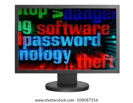 Online fraud - stock photo