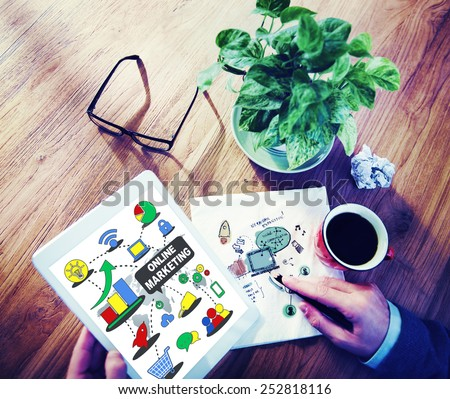 Online Marketing Global Business Concept - stock photo