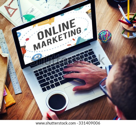 Online Marketing Promotion Campaign Technology Concept - stock photo