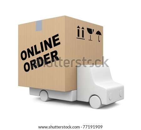 Online order. Image contain clipping path - stock photo