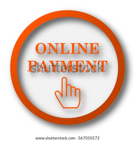 Online payment icon. Internet button on white background.