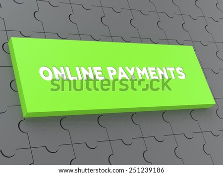 ONLINE PAYMENTS - stock photo