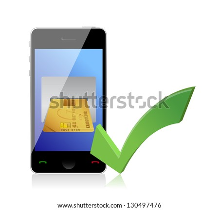 Online payments concept illustration design over white - stock photo