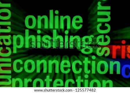 Online phishing connection - stock photo