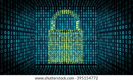 online security background - stock photo
