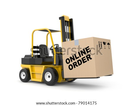 Online shop. Delivery metaphor - stock photo