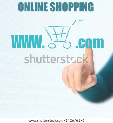 online shoping - stock photo
