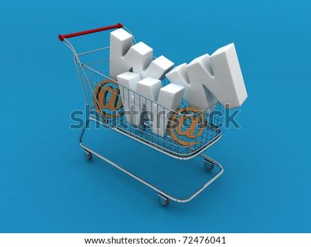 Online Shopping Cart - stock photo