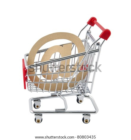 Online shopping. Clipping path included. - stock photo