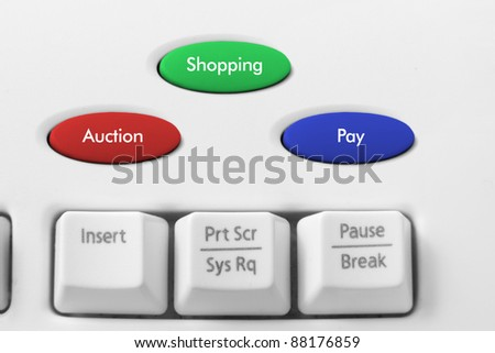 Online Shopping Concept on Keyboard - stock photo