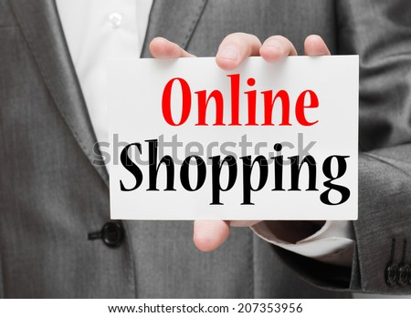 Online shopping. E-commerce concept. - stock photo
