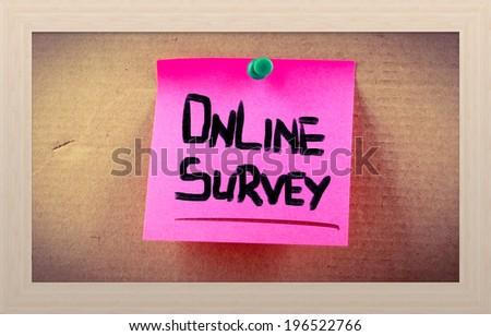 Online Survey Concept - stock photo