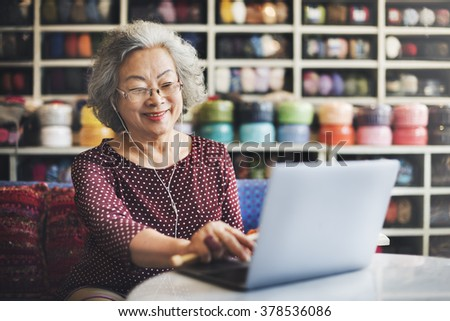 Online Technology Communication Social Media Concept - stock photo