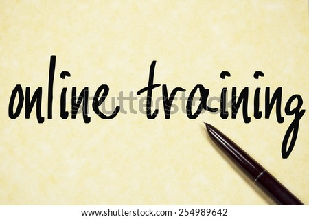 online training text write on paper  - stock photo
