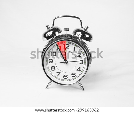only five 5 minutes before  - stock photo