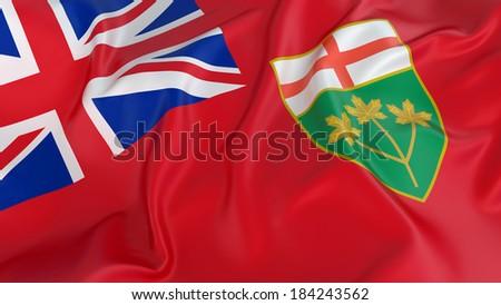 Ontario Flag - stock photo