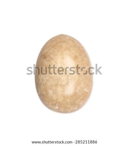 Onyx stone egg isolated on white background - stock photo