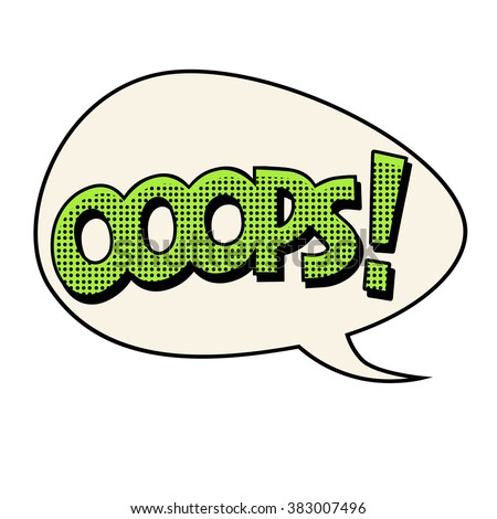 oops comic text bubble - stock photo