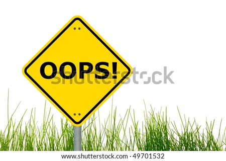 oops i made a realy fatal mistake - stock photo