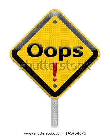 Oops sign - stock photo